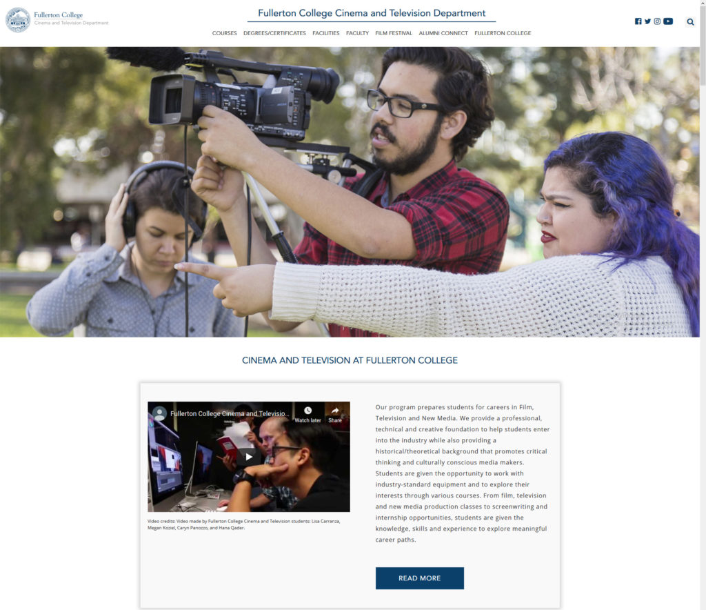 Fullerton College Film Department
